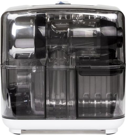 Соковыжималка горизонтальная одношнековая Omega Cube302S, Серебристая
