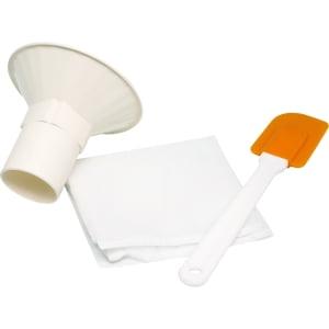 Расширенный комплект аксессуаров к блендеру RAWMID Dream (воронка + мешочек для орехового молока + лопатка) - фото 1
