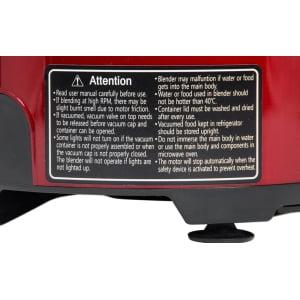Вакуумный блендер RPM Vidia BL-001, Красный - фото 2
